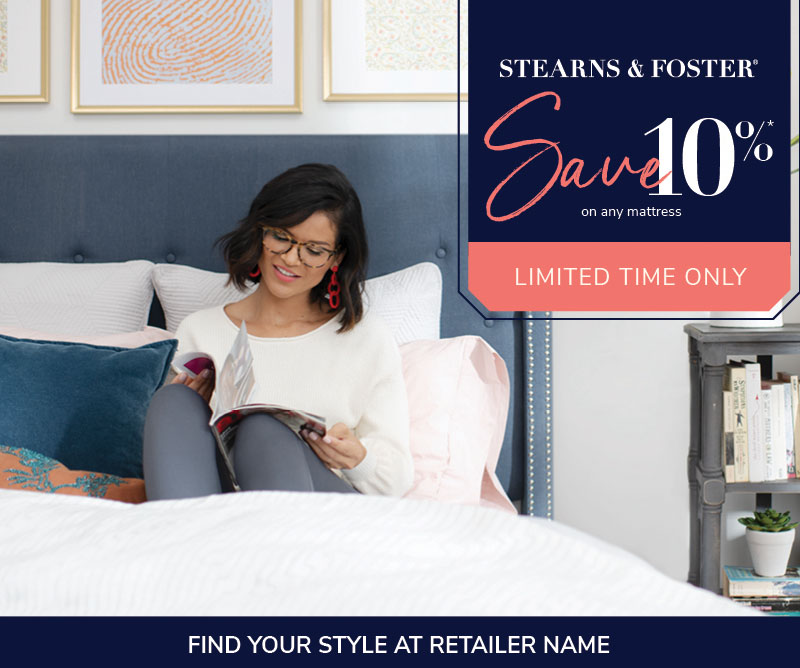 Stearns & Foster Save 10%